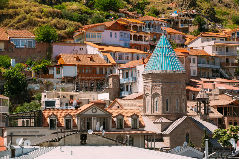 Saint George Armenian Cathedral de Tbilisi, Geórgia imagem de stock royalty free