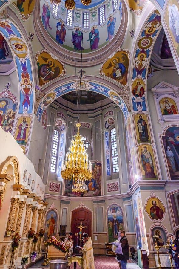 Saint George Cathedral Vydubytsky Monastery Kiev Ucrânia do batismo fotos de stock royalty free