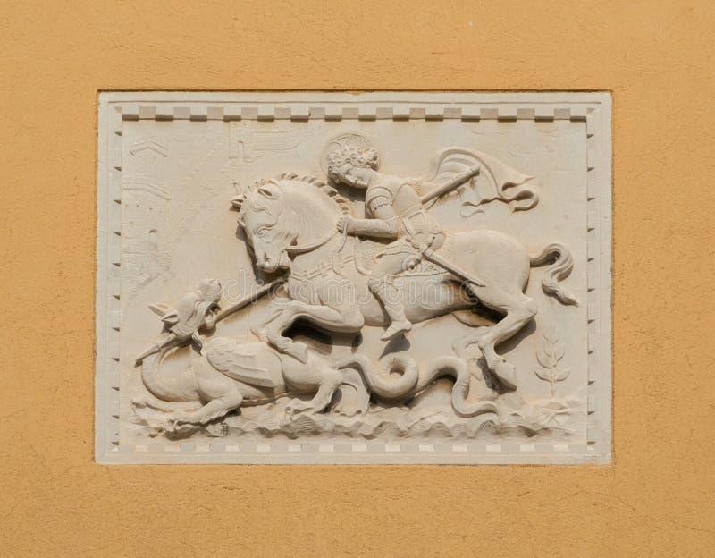 Saint George et le dragon image stock