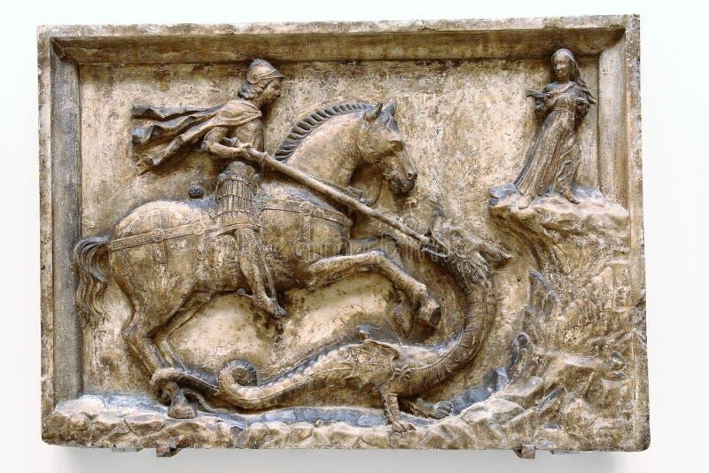Saint George et le dragon photographie stock libre de droits