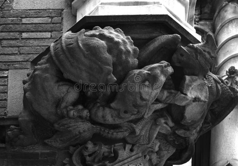 Saint George et le dragon photographie stock