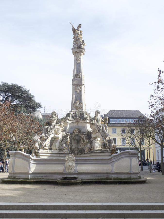 Saint George`s Fountain, Trier royalty free stock photography