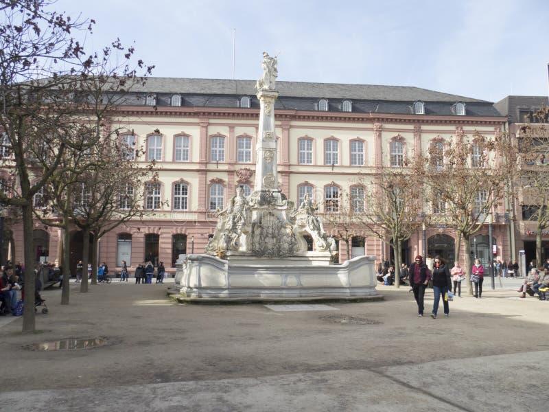 Saint George`s Fountain, Trier royalty free stock photo