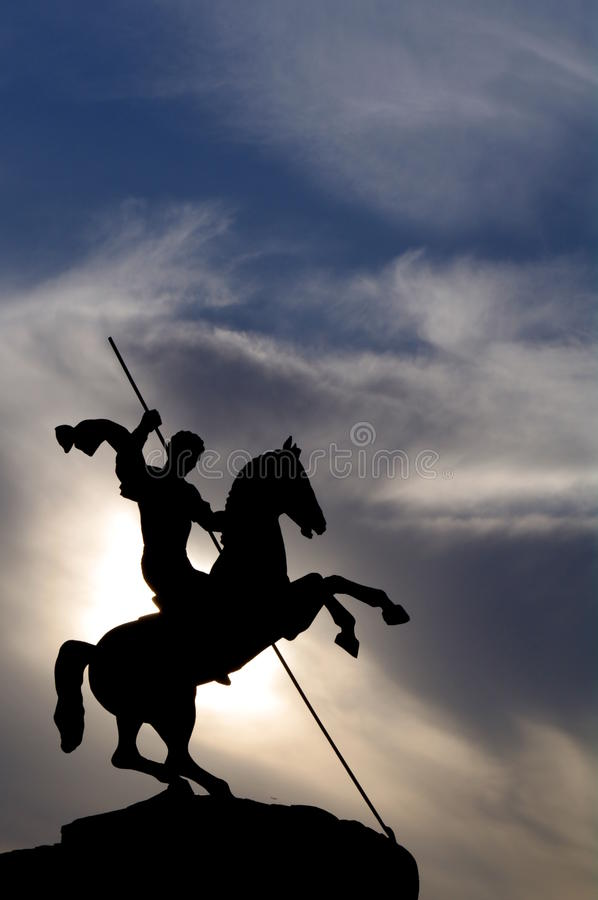 Saint George Victorious In Victory Park Royalty Free Stock Images