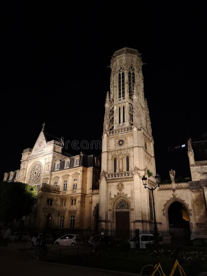 Saint-Germain-l`Auxerrois Church in Paris, France royalty free stock photography