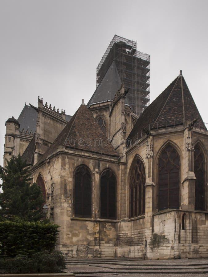 Saint Gervais Church Saint Protais - une ?glise tard-gothique dans le 4?me secteur parisien, sur la rive droite de la Seine image stock