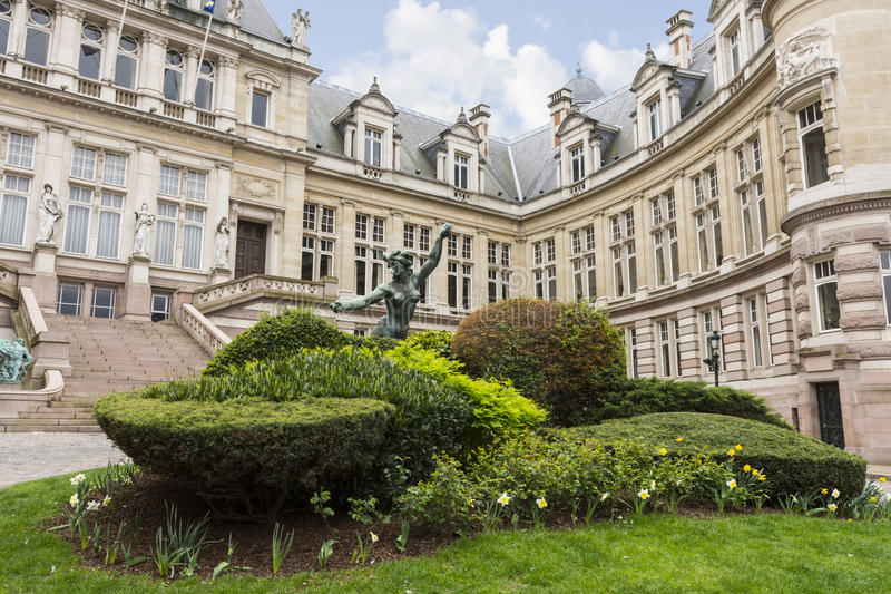Saint Gilles city hall building in Brussels stock image