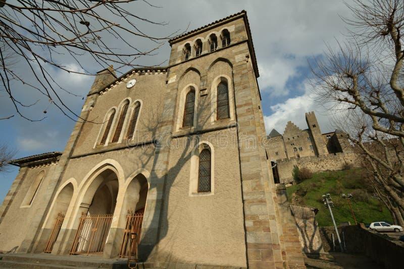 Saint Gimer d'église catholique à Carcassonne, France photo stock