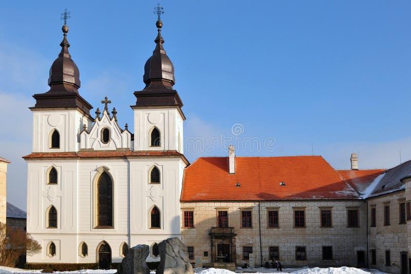 Saint gothique Procopius de basilique dans Trebic, photo libre de droits