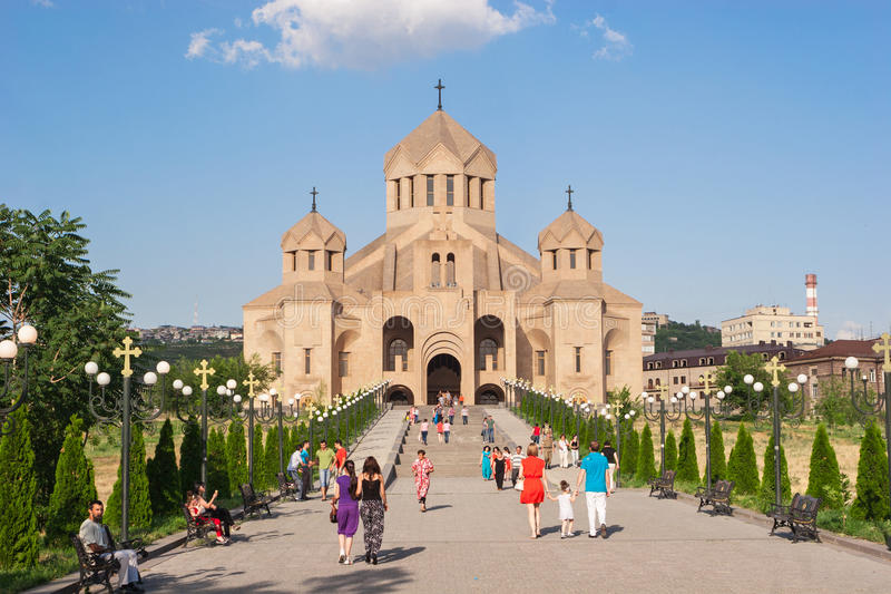 Saint Gregory the Illuminator Cathedral stock photography