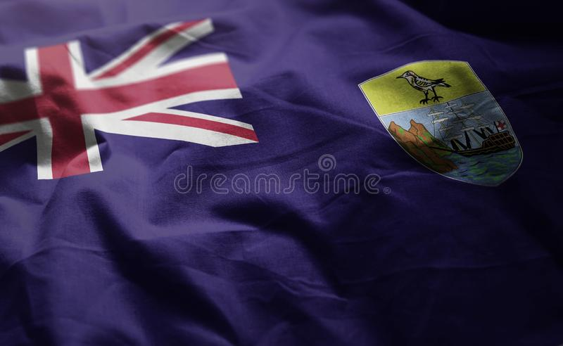 Saint Helena Flag Rumpled Close Up photographie stock