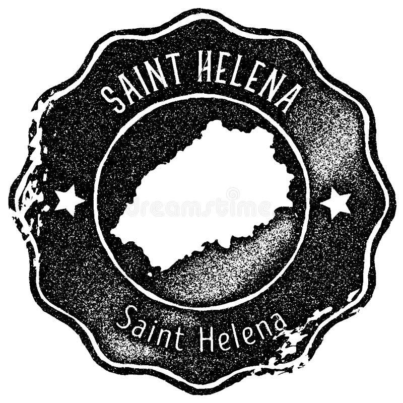 Saint Helena map vintage stamp. stock photos
