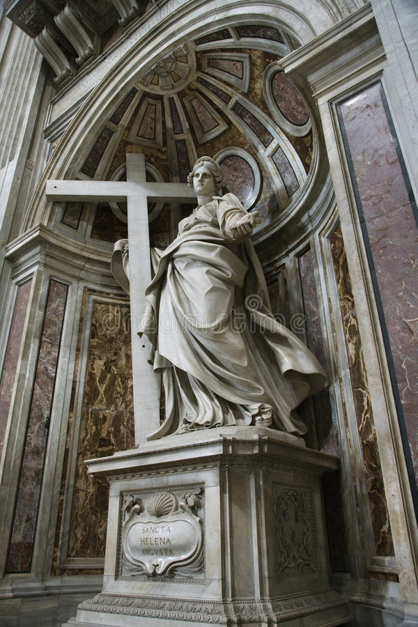Saint Helena statue inside Saint Peter's. Saint Helena statue inside Saint Peter's Basilica, Rome, Italy stock images