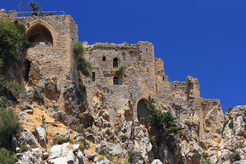 Saint Hilarion Castle, Kyrenia, Chipre norte imagem de stock royalty free