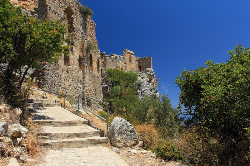 Saint Hilarion Castle, Kyrenia, Chipre norte foto de stock royalty free