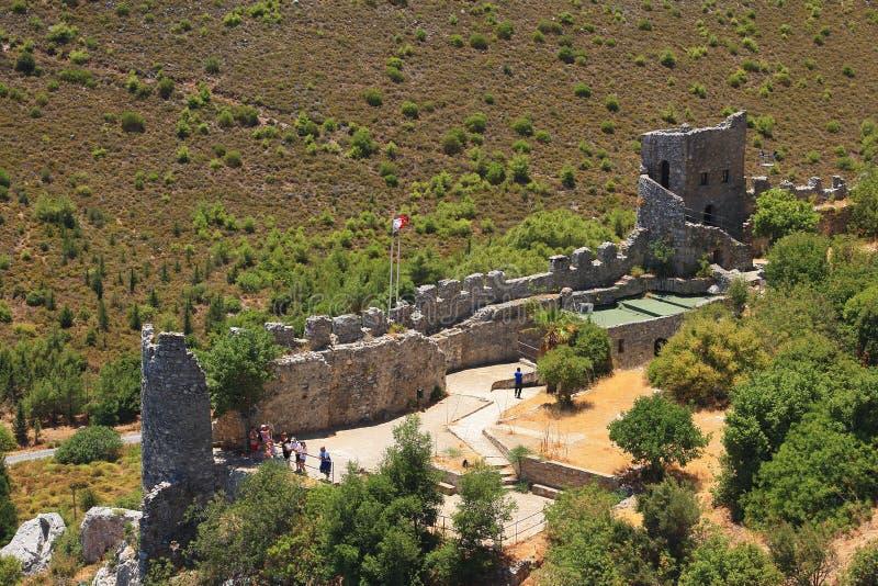 Saint Hilarion Castle, Kyrenia, Chypre du nord images stock