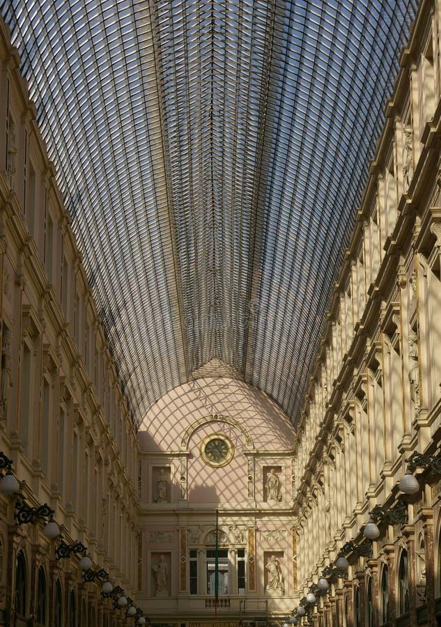 Saint Hubert. Galleries in Brussels, Belgium stock photos