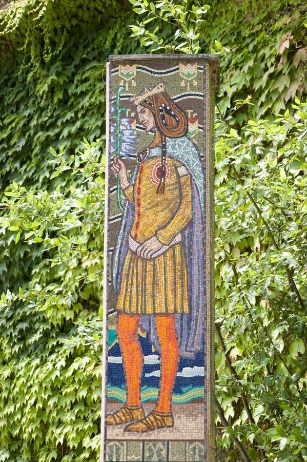 Download Saint Imre Herczeg Mosaic stock image. Image of colourful - 20137761