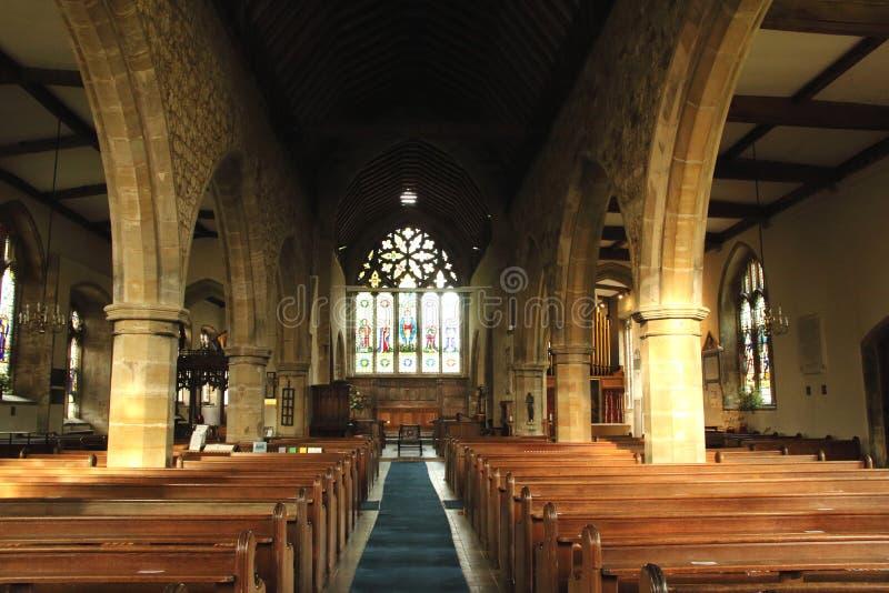 Saint intérieur Laurence Church Hawkhurst, le Sussex images libres de droits