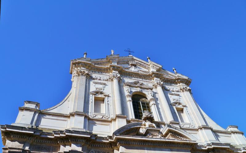 Saint Irene a church in Lecce. Detail of the St Irene church in Apulia, Lecce in Italy royalty free stock photo