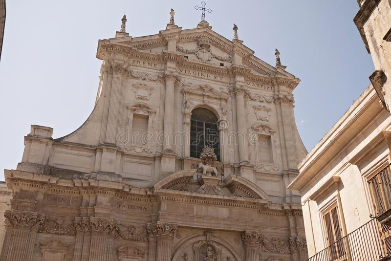Saint Irene church. Lecce, Italy - September 08, 2012 : Saint Irene church in Lecce stock images