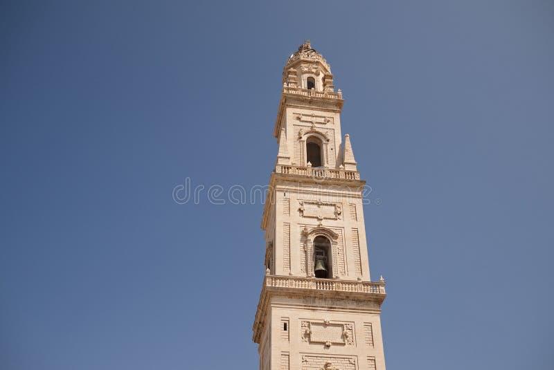 Saint Irene church tower bell. Lecce, Italy - September 08, 2012 : Saint Irene church stock images