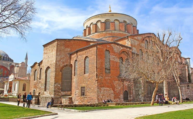 Saint Irina church in Istanbul. Turkey stock images