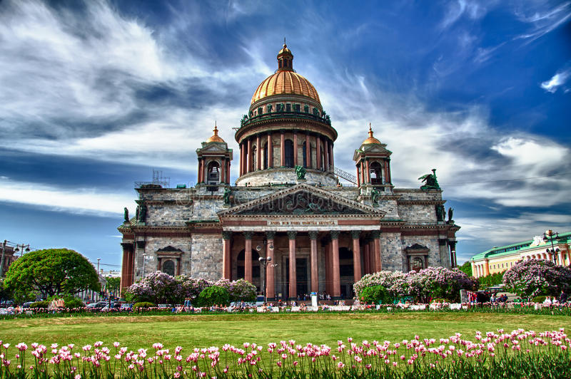 Saint Isaac cathedral. In St Petersburg, Russia royalty free stock images