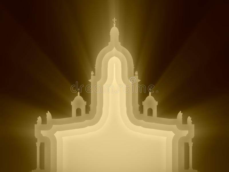 Saint Isaac Cathedral em St Petersburg Rússia ilustração royalty free