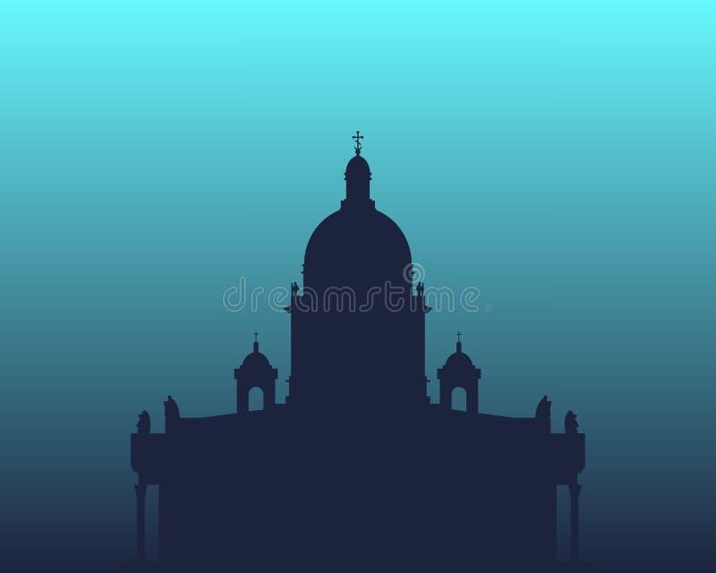 Saint Isaac Cathedral em St Petersburg Rússia ilustração do vetor