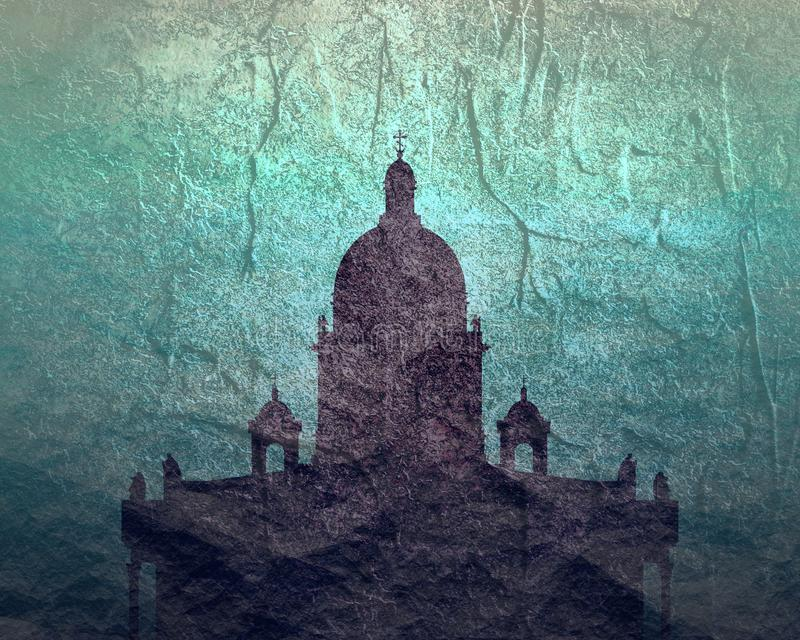 Saint Isaac Cathedral em St Petersburg R?ssia ilustração royalty free
