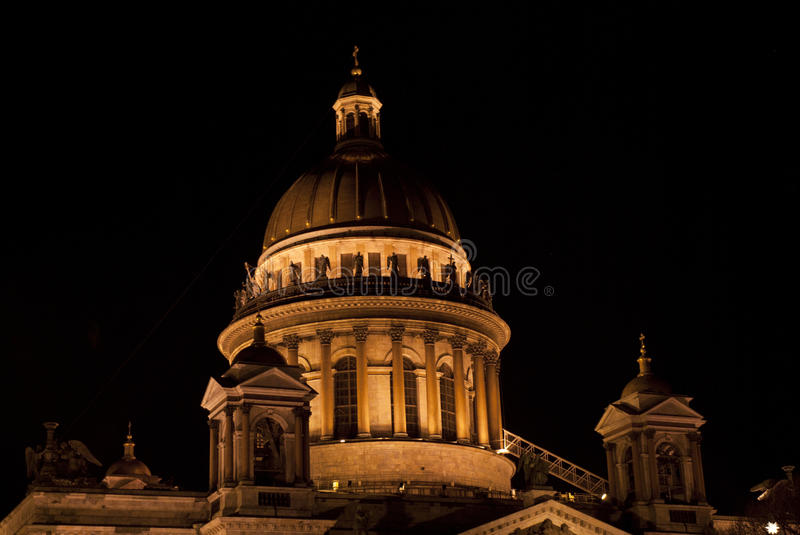 Saint Isaac's Cathedral or Isaakievskiy Sobor in Saint Petersburg, Russia. It is dedicated to Saint Isaac of Dalmatia, a patron saint of Peter the Great. nIn royalty free stock images