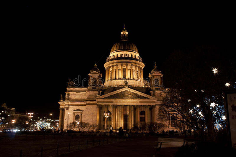 Saint Isaac's Cathedral or Isaakievskiy Sobor in Saint Petersburg, Russia. It is dedicated to Saint Isaac of Dalmatia, a patron saint of Peter the Great. In royalty free stock photography