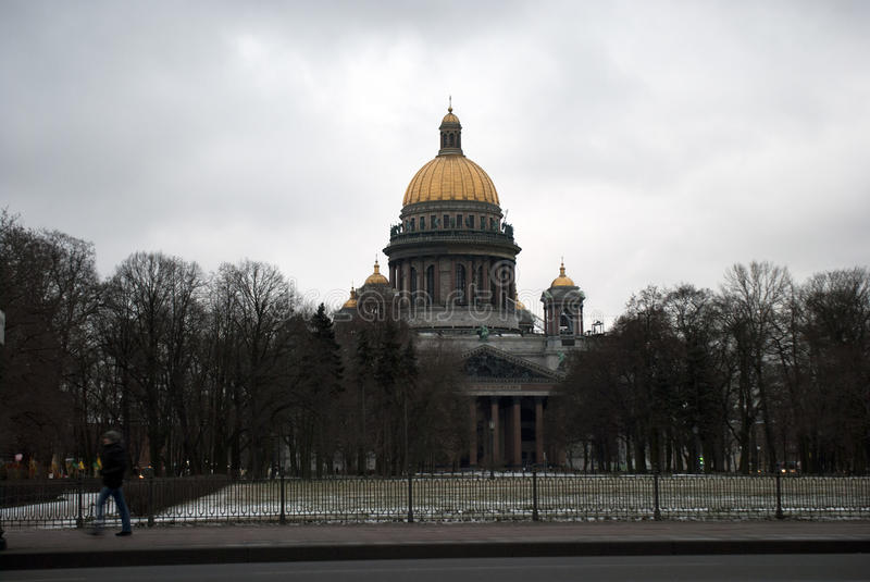 Saint Isaac's Cathedral or Isaakievskiy Sobor in Saint Petersburg, Russia. Is the largest Russian Orthodox cathedral (sobor) in the city. It is the largest royalty free stock image