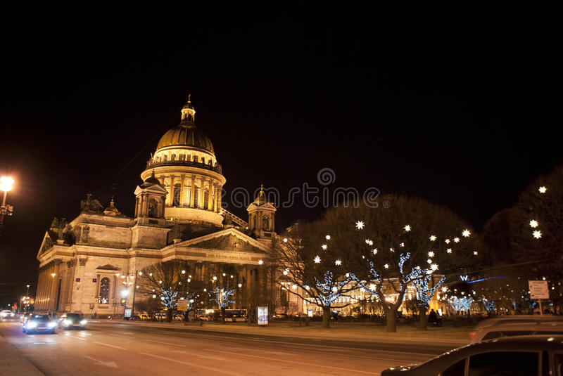 Saint Isaac's Cathedral or Isaakievskiy Sobor in Saint Petersburg, Russia. Is the largest Russian Orthodox cathedral (sobor) in the city. It is the largest royalty free stock photo
