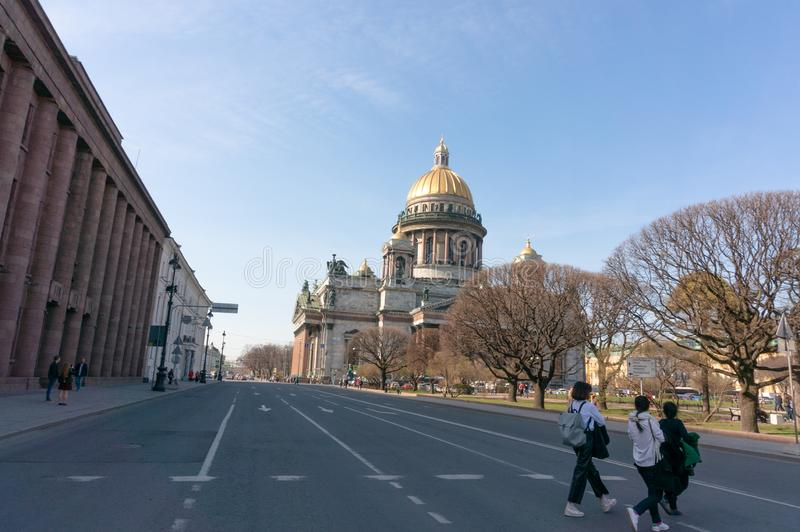 St. Isaac`s Cathedral in Saint-Petersburg, Russia royalty free stock photography
