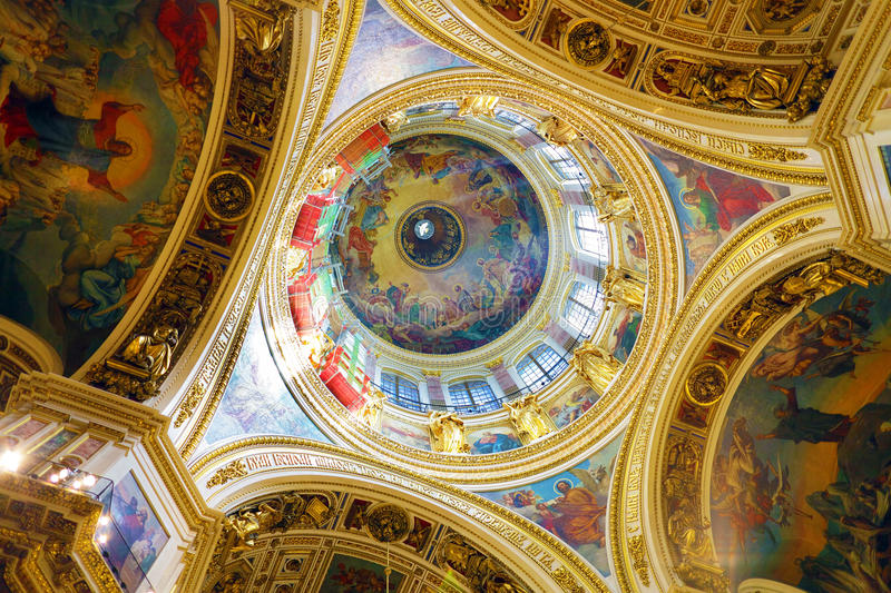 Saint Isaac's Cathedral in St Petersburg, Russia royalty free stock photos