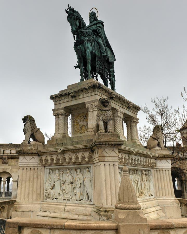 Saint Istvan Monument - Budapest, Hungary royalty free stock images