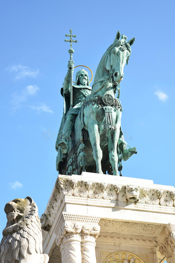 Saint Istvan monument stock images