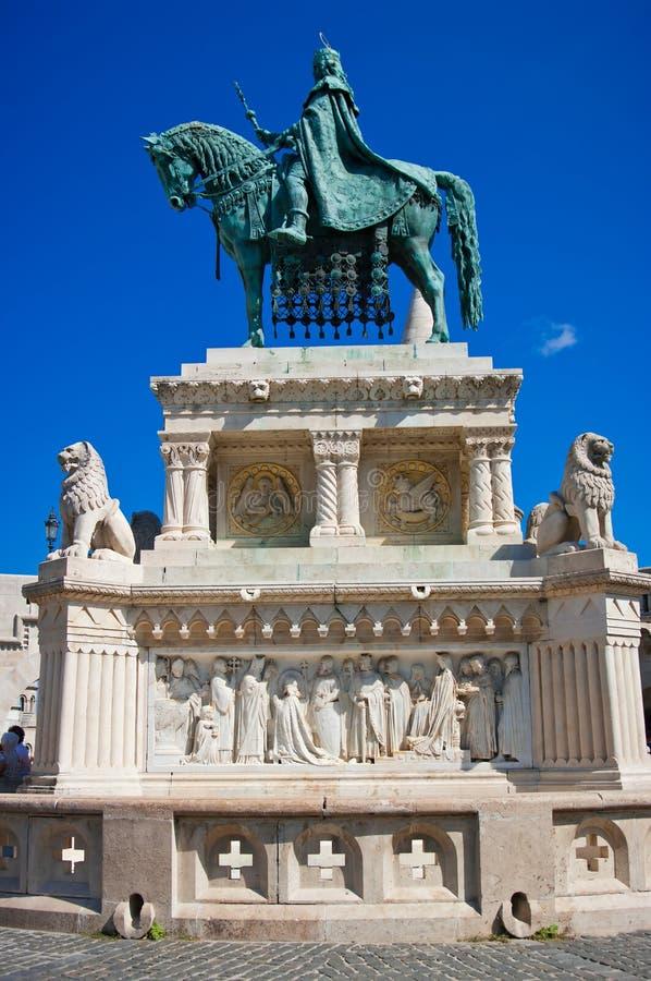 Saint Istvan Statue royalty free stock photo