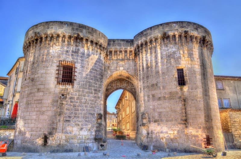 Saint Jacques Gate no conhaque, França fotografia de stock royalty free