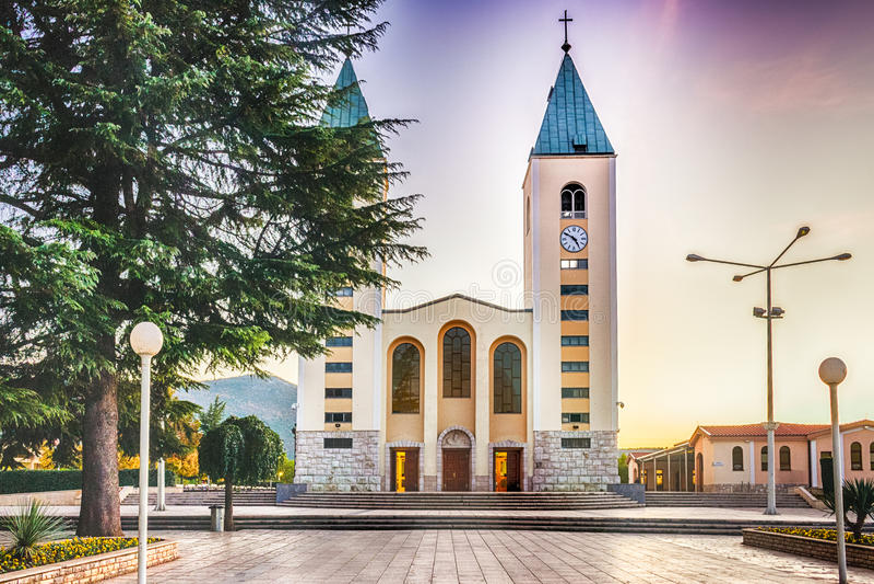 Saint James Church dans Medjugorje images stock