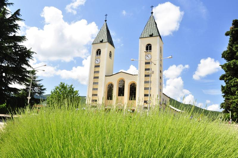 Saint James Church (St. Jakov) Medjugorje - Hotel Pansion Porta - Bosnia Herzegovina - Creative Commons by gnuckx royalty free stock image