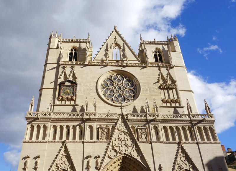 Download Saint Jean Cathedral In Lyon, France Stock Image - Image: 37101391