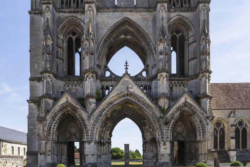 Saint Jean des vignes abbey, Soissons, France. A view in SOISSONS, FRANCE, AUGUST 14, 2016 : Saint jean des vignes abbey, august 14, 2016 in Soissons, Aisne stock photo