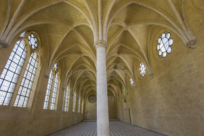 Saint Jean des vignes abbey, Soissons, France. A view in SOISSONS, FRANCE, AUGUST 14, 2016 : Saint jean des vignes abbey, august 14, 2016 in Soissons, Aisne stock photo