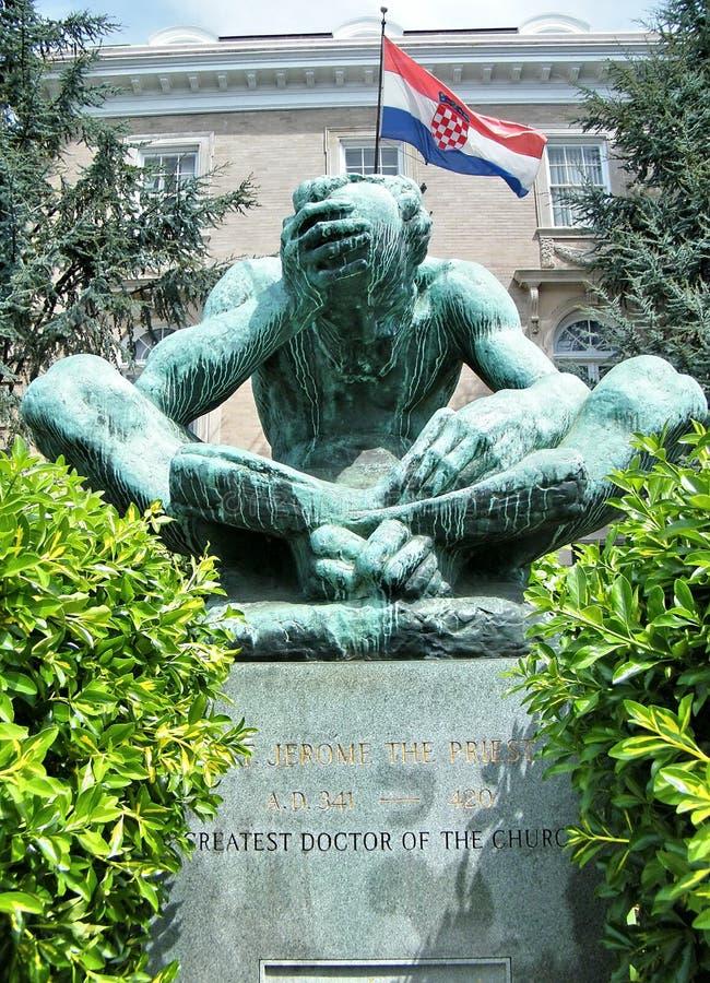 Saint Jerome de Washington la statue 2010 de prêtre photo stock