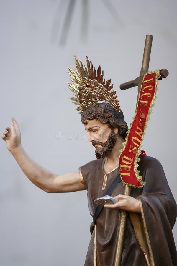 Sao Joao Batista Catholic Image. Saint John the Baptist of the Catholic Church - Sao Joao Batista stock image