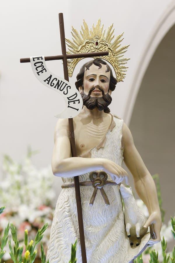 Sao Joao Batista Catholic Image. Saint John the Baptist of the Catholic Church - Sao Joao Batista royalty free stock photo