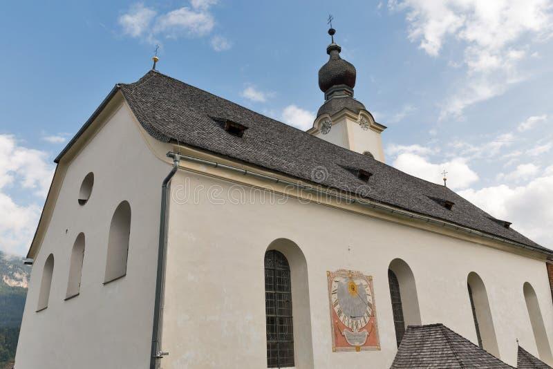 Saint John the Baptist church in Haus, Austria. royalty free stock photo